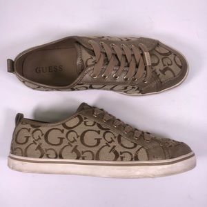 GUESS Low Top Tan Fashion Sneakers WGGOODLY